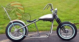 Details about Fatbob Shovelhead Chopper Rigid Bobber Harley Rolling Chassis  Frame Big Twin EVO