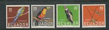 ECUADOR 1958 BIRDS PARROT TOUCAN etc (Scott 634-7) VF MH