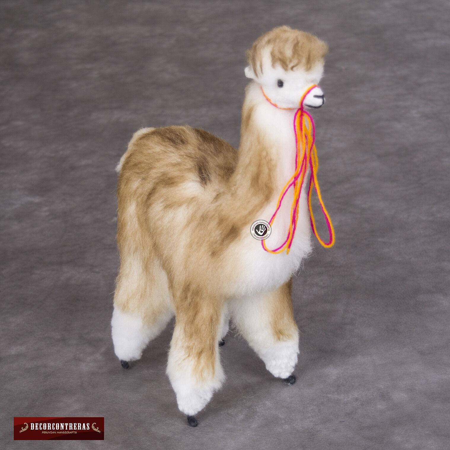 Handmade Baby Alpaca Stuffed animal Plush llama 12.6