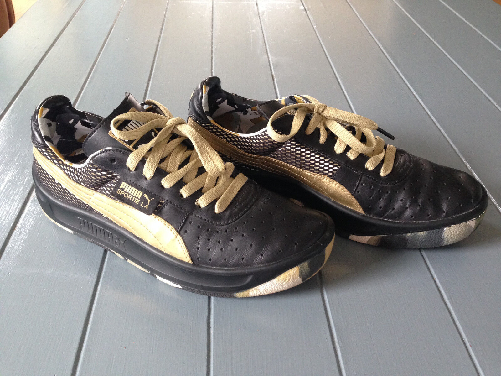 PUMA 2008 California Sportie LA Black gold Camo US 6.5 Limited Edition only 150