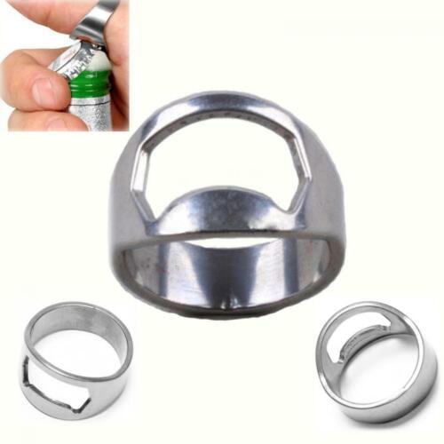 bouteille l/'acier inoxydable anneau forme serveur outil de la bière ouvre