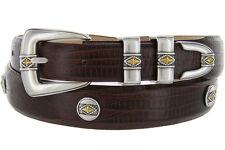 "Golden Diamond - Italian Calfskin Genuine Leather Designer Dress Belt, 1-1/8"""