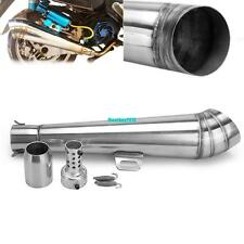 Universal Motorcycle Stainless  Exhaust Muffler Pipe Slip On 38-51mm Street Bike