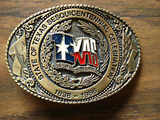 Texas Sesquicentennial Belt Buckle Solid Brass TL&B 1986 Licensed Official 18999