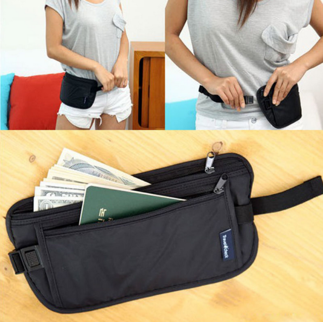 Apparel Accessories 2019 Fashion Secret Outdoor Travel Money Waist Belt Ticket Hidden Security Safe Storage Pouch