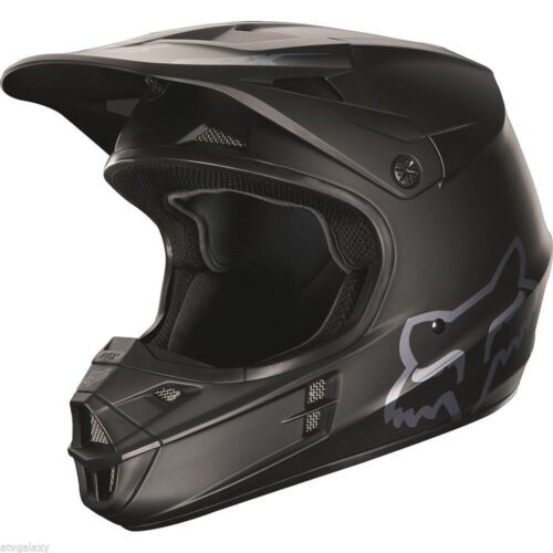 Fox Racing V1 Matte Black MX Motocross Dirtbike ATV Helmet Adult 15310-255