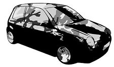 BLACK - LUPO CAMOUFLAGE GRAPHIC /STICKER( VW / STICKERBOMB STYLE) X1