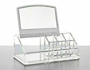 Espositore Organizer Porta Trucco Box Portagioie Cosmetici Con Specchio cir
