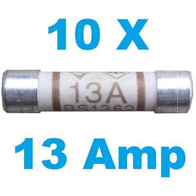 10x 13 Amp Nacional Fusible CE cumple bs1362 plugtop Tipo-Libre p+p diez