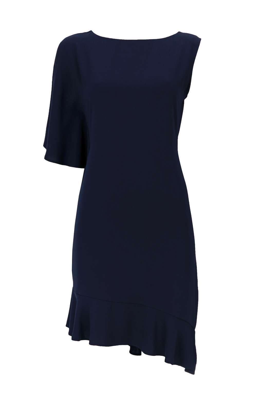 BNWT Wallis Navy Peplum Asymmetric Dress