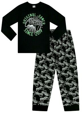 Boy/'s Happy Face Head Phone Short Cool Pyjamas 11 to 16 Years Pj PJs