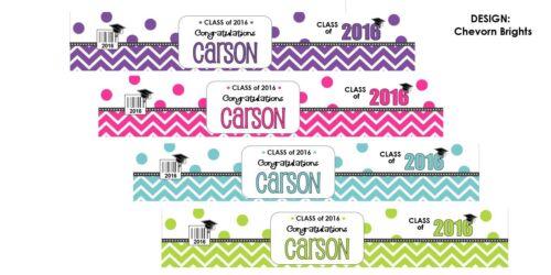 35 WATER BOTTLE LABELS Personalized Graduation Wrapper Decoration Favor 2019