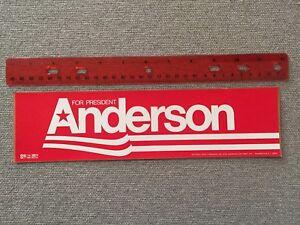 Vintage Unused Anderson Lucey Bumper Sticker