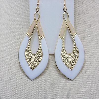 Newly Charm Women Drop Earrings Fashion Gold Plated Enamel Hook Dangle Earrings