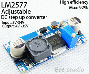 Lm2577 Dc Dc Adjustable Step Up Power Supply Boost