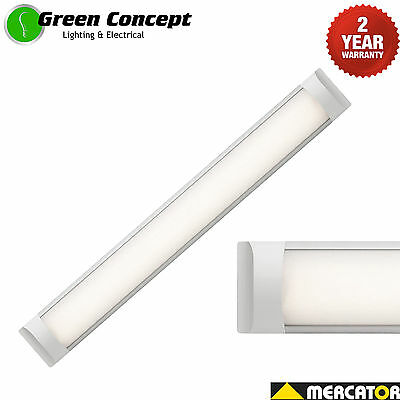 Mercator Neo 28W LED Batten Slimline Ceiling or Wall Surface Mount Light ML10028