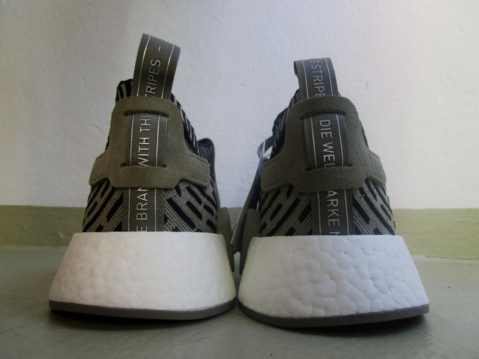 Adidas NMD r2 PK PK PK OG 45 1/3 Originals Olive/Blanc -Noir  fc0fe3