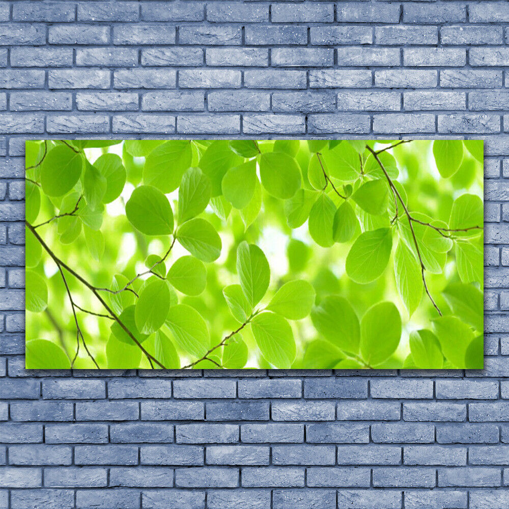 Glass print Wall art 140x70 Image Image Image Picture Leaves Nature 33c1be