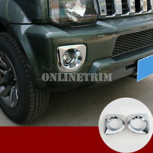 ABS-Chrome-Front-Fog-Light-Trim-Cover-2pcs-For-Suzuki-Jimny-2012-2017
