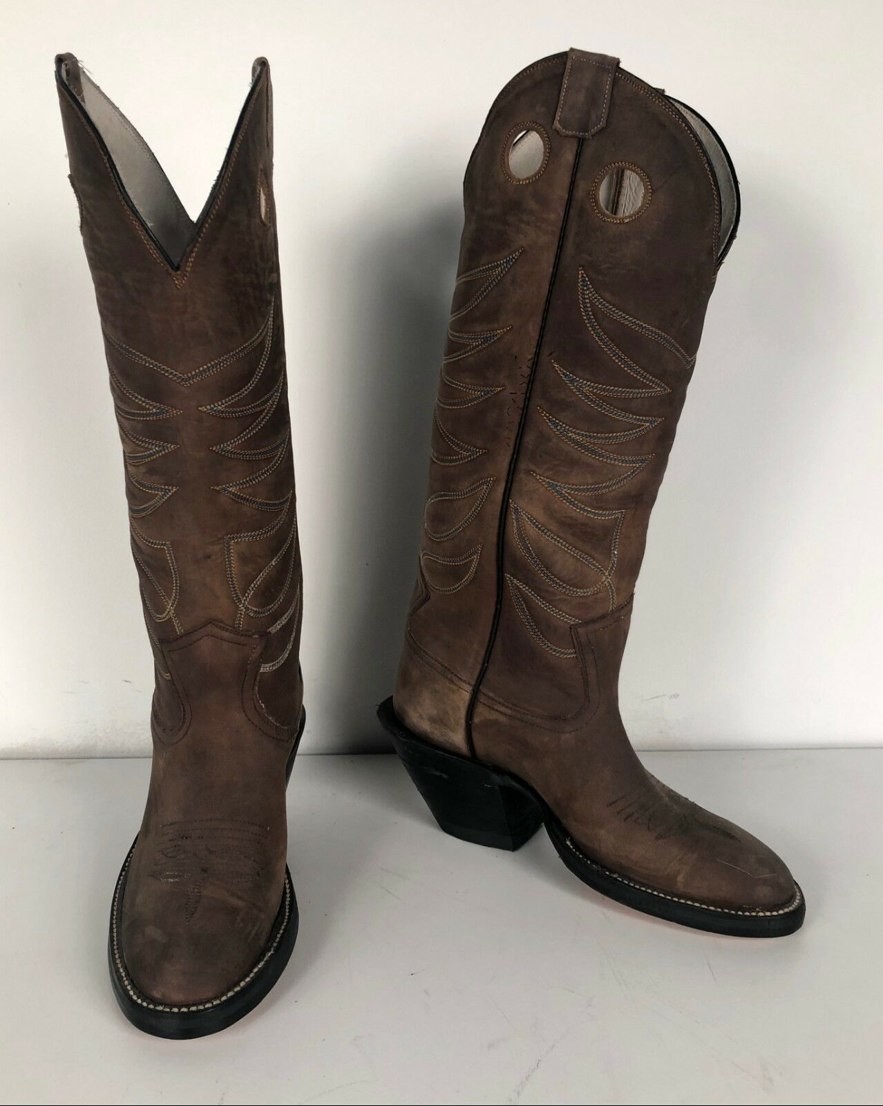Jose Sanchez stivali, 7.5B Men's Buckaroo Marroneee Mulehide Working Cowboy stivali