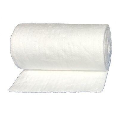"USA Made Ceramic Fiber Blanket Strip 2300F 8LB 1/""x2/""x25/' For HVAC Kiln Gasket"
