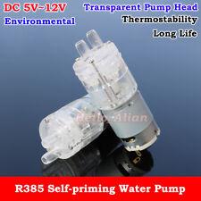 Dc 5v 12v 6v 9v Transparent Small Mini R385 Self Priming Suction Hot Water Pump