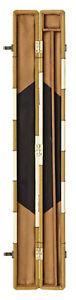 PowerGlide-PVC-Patchwork-3-4-Split-Snooker-Pool-Cue-amp-Accessories-Case-4-Colours