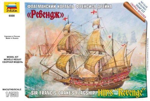 Zvezda 6500-1//350 Sir Francis Drake´S Flagship Hms Revenge Neu