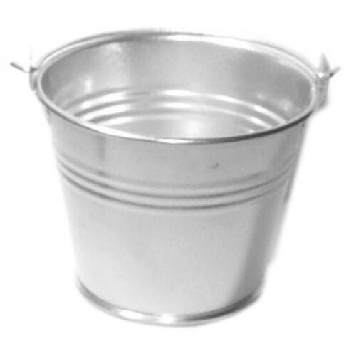 Pack of 10 Plain Silver Design Favour Pails Favour Buckets XMEFABU03
