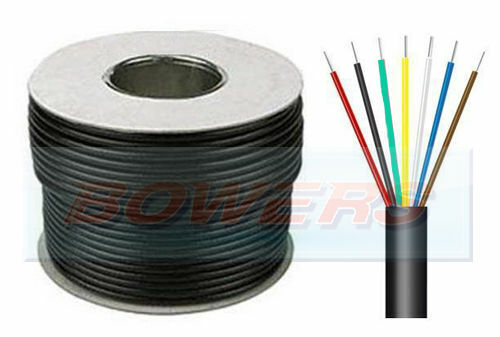 30M METRE ROLL 11A THIN WALL 7 CORE CABLE WIRE 7x 16//0.20 0.5mm² TOWING TRAILER