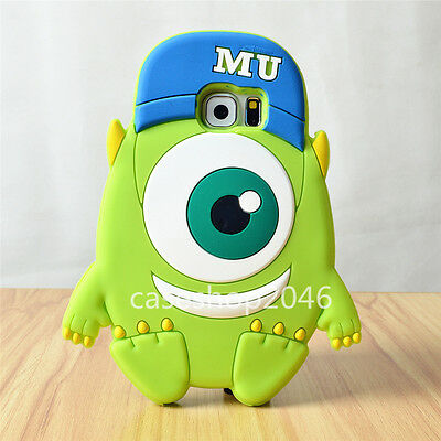 3D Cute cartoon Disney mike Silicone soft Case cover for samsung galaxy S6 note4