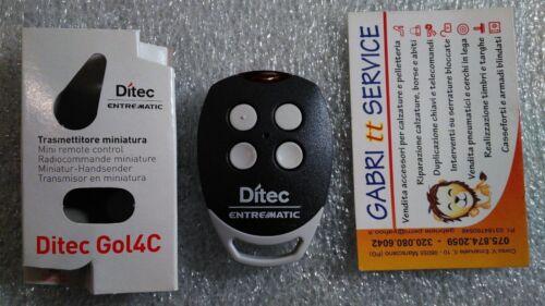 DITEC GOL 4C radiocomando originale Fm 433,92 MHz Codice Fisso 6900947 ex BIXLS2
