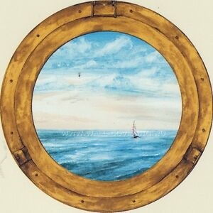Wallpaper-Mural-Porthole-With-Ocean-View
