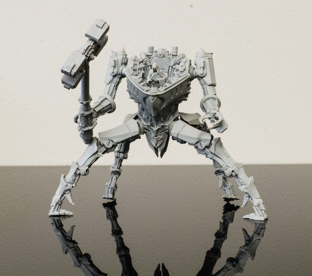 Edge: Dawnfall Resin WAR GOLEM Chapter Boss AI Expansion Unassembled