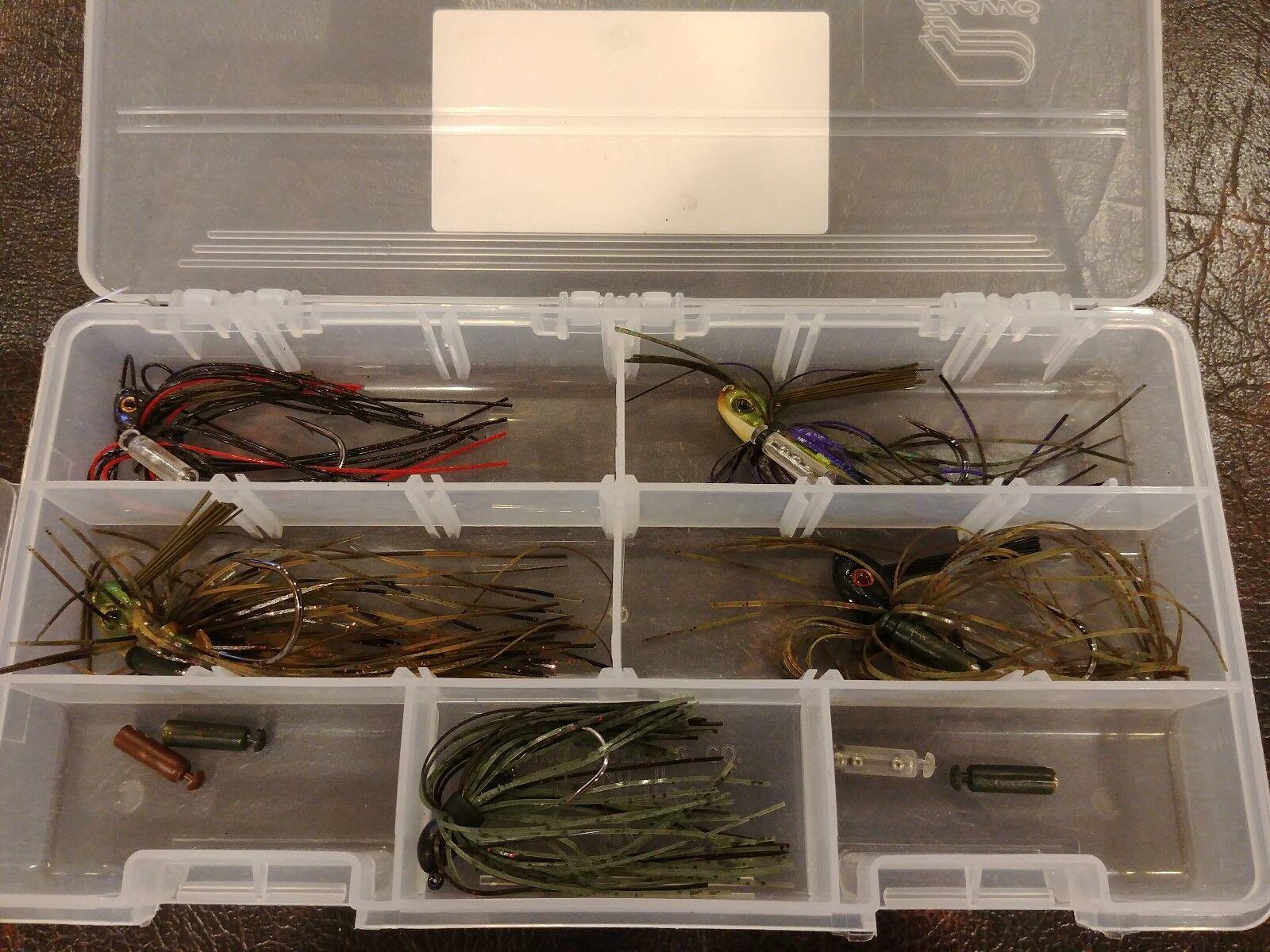 LCD Jigs 4 Pk 1 4 oz Box Set  Swim Jig Bait Fishing Lure Mustad Hook  select from the newest brands like