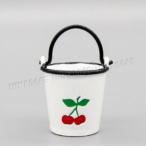 Image Is Loading 1 12 Dollhouse White Metal Bucket Cherry Pail