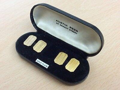 Vintage Austin Reed Gold Plate Cufflinks 1960 Ebay
