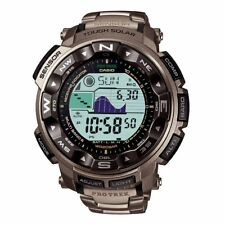 Casio Pro Trek Men's Solar Triple Sensor Titanium Bracelet 56mm Watch PRW2500T-7