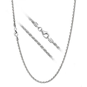 Solid-925-Sterling-Silver-3mm-Italian-Diamond-Cut-Twisted-Rope-Chain-Necklace