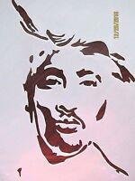 Tupac Stencil Reusable 10 Mil Mylar Stencil