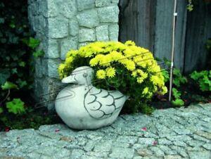 Blumenkübel Pflanz Kübel Dekoration Figur Blumentöpfe Garten Vasen Ente 572