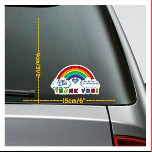 merci fier d/'appuyer Heroes 50/% Don à NHS NHS Rainbow Autocollant Voiture