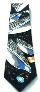 New-Retro-Computer-Keyboard-Floppy-Disk-Mens-Novelty-Necktie-Neck-Tie-Sleeved