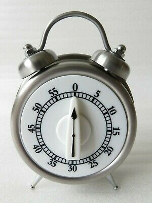 Teapot Shaped 60 Minute Kitchen Timer Stainless Steel Mechanical Wind-Up Timer