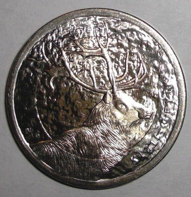 2012 Turkey 1 lira, Red Deer, animal wildlife, bi-metallic coin