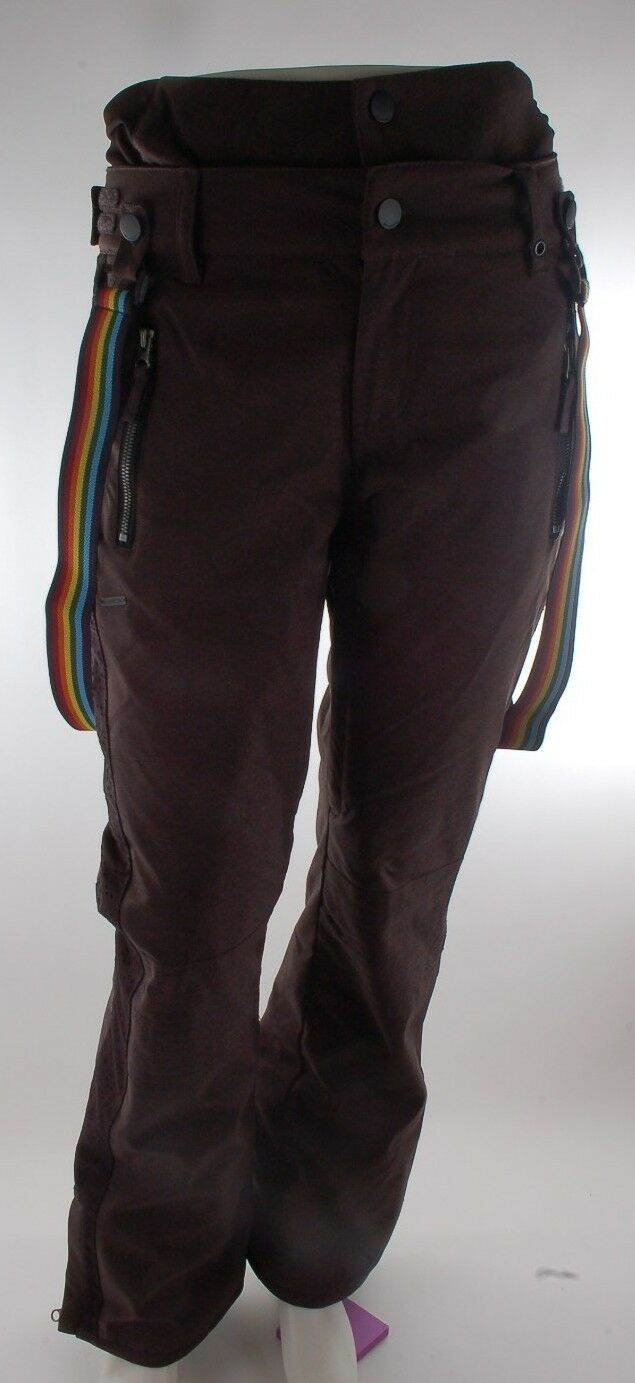 2015 NWT WOMENS BILLABONG DOLLS SNOWBOARD PANTS   175 S charcoal rainbow straps  online shopping and fashion store