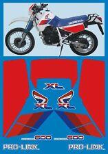 Honda XL 600 RM 1986/90 modello Bianco tab R - adesivi/adhesives/stickers/decal