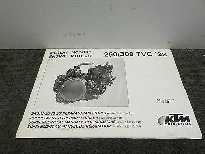 1993 ktm 250 300 tvc compliment to repair manual engine ebay. Black Bedroom Furniture Sets. Home Design Ideas