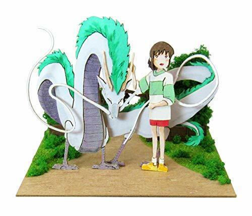 Studio Ghibli Spirited Away Sankei Paper Craft Kit Dragon And Chihiro Japan 200 For Sale Online Ebay