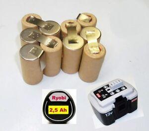 Scambio-Pack-per-ORIGINALE-RYOBI-BATTERIA-12-V-bpn-1213-amp-GT-1217-con-2-5-Ah-SANYO
